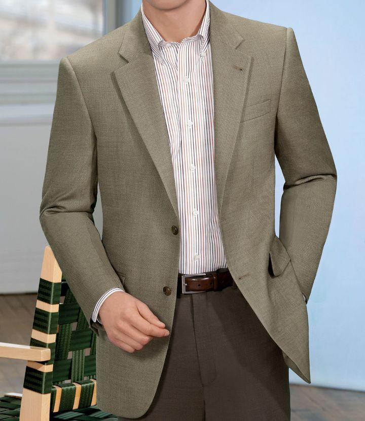Jos. A. Bank Signature Tailored Fit 2-Button Textured Sportcoat