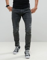 G Star G-Star 5620 3D Super Slim Dark Aged Gray Cobler Wash