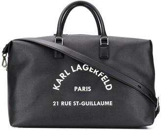 Karl Lagerfeld Paris Rue St Guillaume holdall bag