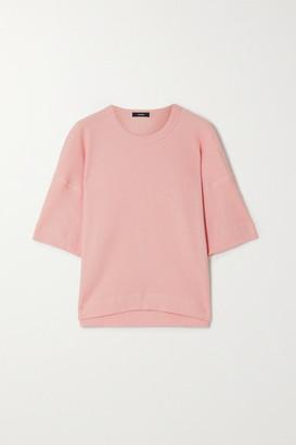 Bassike Waffle-knit Organic Cotton T-shirt - Pink