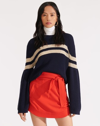 Veronica Beard Nyrie Tie-Waist Miniskirt