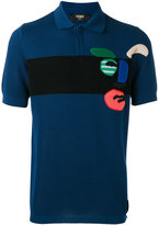 Fendi embroidered polo shirt - men - Cotton/Polyester - 46