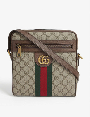 Gucci GG Supreme canvas and leather cross-body bag