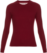RED Valentino Ribbed long-sleeved knit sweater
