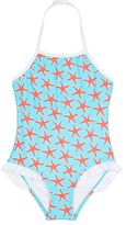 Snapper Rock STARFISH-PRINT HALTER ONE-PIECE SWIMSUIT