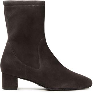 Stuart Weitzman Ernestine Stretch-suede Ankle Boots