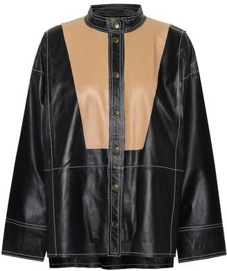 Stand Studio Laura leather shirt