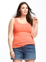 Fitted Rib-Knit Plus-Size Tank