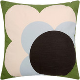 Orla Kiely Single Bigspot Shadow Flower Cushion Grass Green