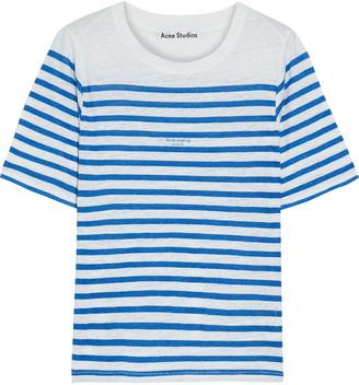 Acne Studios Megalin Striped Slub Linen-jersey T-shirt