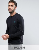 Paul Smith Long Sleeve Top PS Logo Slim Fit in Black Exclusive