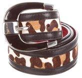 Karen Millen Ponyhair Leopard Belt