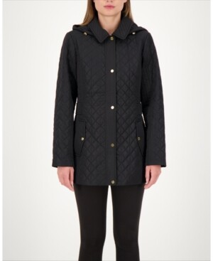 Thumbnail for your product : Jones New York Hooded Quilted Water-Resistant Coat, Created for Macy's