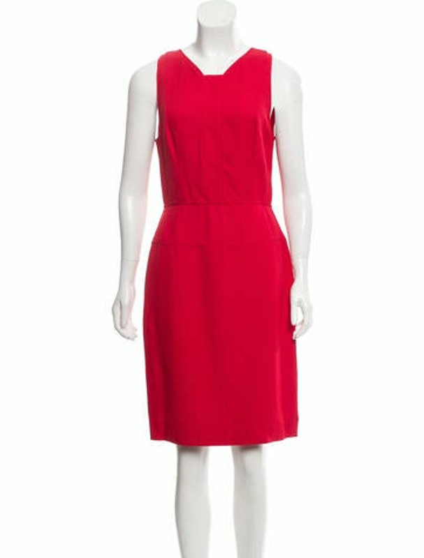 Narciso Rodriguez Sleeveless Knee-Length Dress Red