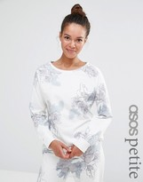 Asos LOUNGE Floral Water Color Sweater