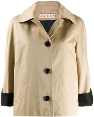 Marni contrast cuffs jacket