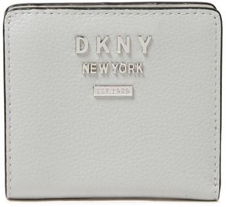 DKNY Logo-embellished Pebbled-leather Wallet