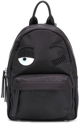 Chiara Ferragni winking eye shell backpack