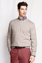 Classic Men's Supima Cotton Textured Crewneck Sweater-Sweet Lilac-Neon Marl