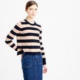 J.Crew Cotton striped crewneck sweater