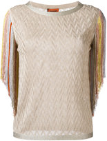 Missoni fringed metallic blouse - women - Polyester/Cupro/Rayon - 44