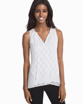 White House Black Market Diamond Patterned Shell Top