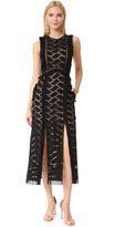Self-Portrait Self Portrait Cutwork Midi Dress