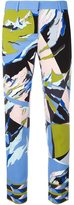 Emilio Pucci abstract print cropped trousers - women - Silk/Viscose/Spandex/Elastane - 38