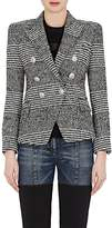 Balmain Women's Houndstooth Wool-Blend Double-Breasted Blazer