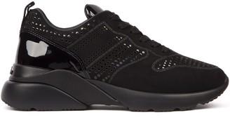 Hogan Active One Black Leather Sneaker