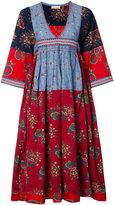 Ulla Johnson V-neck embroidered midi dress - women - Cotton/Linen/Flax - 0
