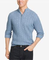 Izod Men's Big & Tall Mock Turtleneck Sweater