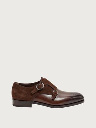 Salvatore Ferragamo Men Double monk strap shoe Brown Size 6.5