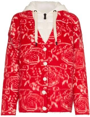 Moncler Jacquard-Knit Cardigan