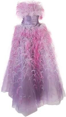 Marchesa strapless ballgown