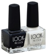 Look Nail Color Cruelty Free & Vegan Nail Polish Set Classic Black & White 0.50 Fl Oz 2 count
