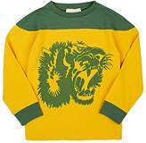 Gucci Lion-Print Cotton Long-Sleeve T-Shirt