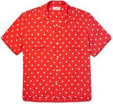Saint Laurent - Camp-collar Polka-dot Voile Shirt