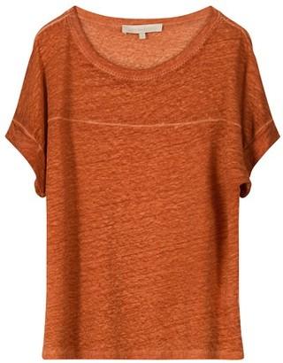 Vanessa Bruno Linen Nelda round-neck collar t-shirt