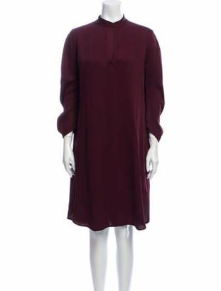 Zero Maria Cornejo Mock Neck Knee-Length Dress Purple