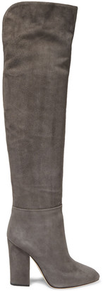Sergio Rossi Scarlett Suede Over-the-knee Boots
