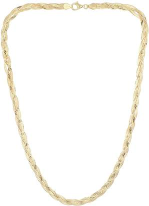 Revere 9ct Gold Plated Sterling Silver Braided Herringbone