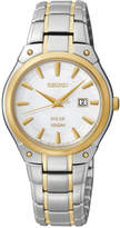 Seiko Women's Solar Two-Tone Stainless Steel Bracelet Bracelet Watch 30mm SUT128