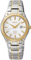 Seiko Women's Solar Two-Tone Stainless Steel Bracelet Watch 30mm SUT128