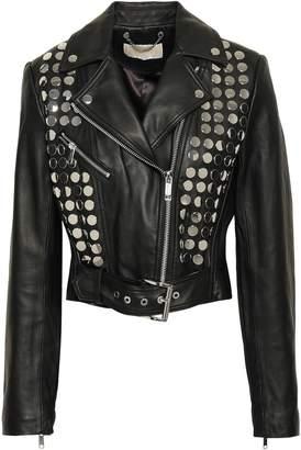 MICHAEL Michael Kors Studded Leather Biker Jacket