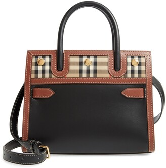 Burberry Baby Title Leather Bag