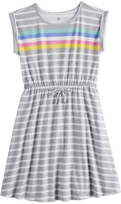 So Girls 7-16 & Plus Size SO Roll Cuff Tie Waist Dress