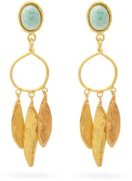 Sylvia Toledano - Amazonite Gold-plated Clip Earrings - Gold