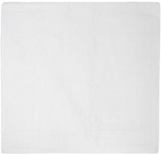 Alexander McQueen White Skull Beach Towel