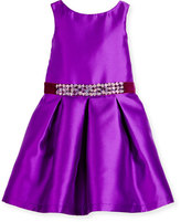 Zoë Ltd Sleeveless Belted Taffeta Party Dress, Purple, 4-6